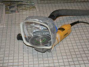 Защитный кожух для ушм с пылеотводом